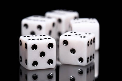 Board Game Photograph - Dice I by Tom Mc Nemar