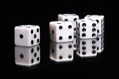 Closeup Photograph - Dice II by Tom Mc Nemar