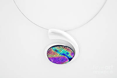 14k Glass Art - Dichroic Glass Pendant by Sandy Feder