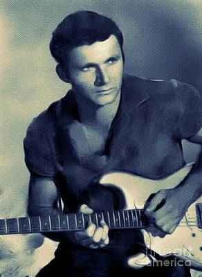 Rock And Roll Royalty-Free and Rights-Managed Images - Dick Dale, Music Legend by Mary Bassett