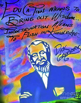 Liberal Painting - Dick Gregory Education by Tony B Conscious