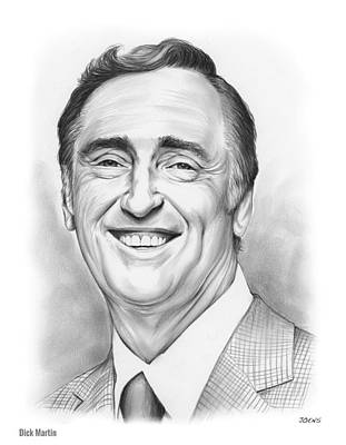 Laugh Drawing - Dick Martin by Greg Joens