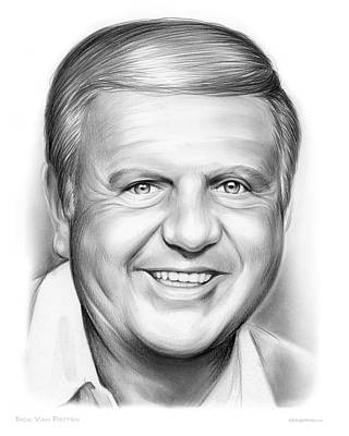 Drama Drawing - Dick Van Patten by Greg Joens