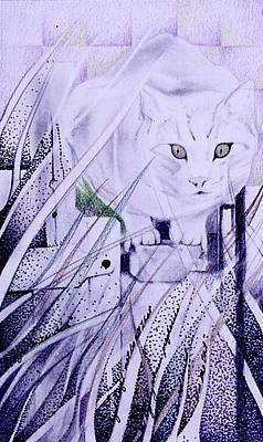 Drawing - Dickens Dream Cat by Ceilon Aspensen