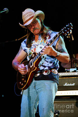 Gregg Allman Photograph - Dickey Betts - Allman Brothers 19 by Vintage Rock Photos