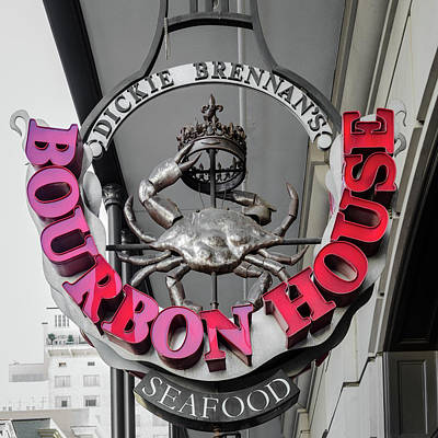 Movies Star Paintings - Dickie Brennans Bourbon House Seafood - New Orleans Louisiana by Debra Martz
