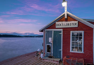 Art Print featuring the photograph Dicks Lobsters - Crabs Shack In Maine by Ranjay Mitra