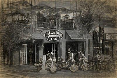 Dickson Street During Bikes, Blues And Bbq Art Print