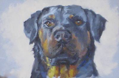 Rotty Painting - Did You Bring Home The Bacon? by Kris Stewart