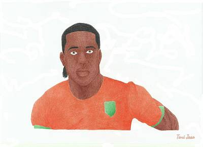 Drawing - Didier Drogba by Toni Jaso