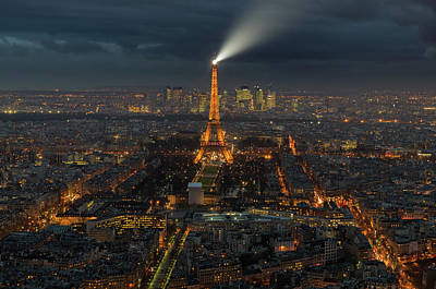 Paris Skyline Photograph - Didn't Know Paris Has A Skyline by Alex Aves