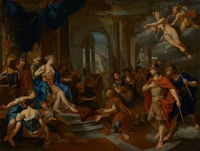 Aeneas Painting - Dido And Aeneas by Nicolas Verkoyle