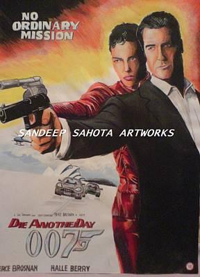 Intezaar Painting - Die Another Day by Sandeep Kumar Sahota