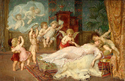 Chaise Longue Painting - Wedding Nuptials by Franz Lefler