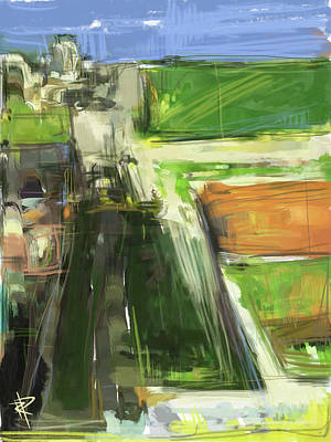 Mixed Media - Diebenkorn Homage by Russell Pierce