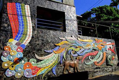 Studio Murals Photograph - Diego Rivera Mural 2 by Randall Weidner