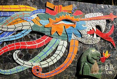 Studio Murals Photograph - Diego Rivera Mural 7 by Randall Weidner