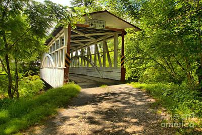Photograph - Diehls Bridge In The Woods by Adam Jewell