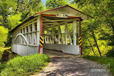 Photograph - Diehls Covered Bridge by Adam Jewell