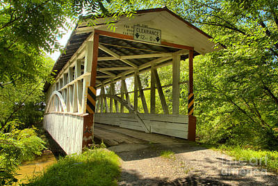 Photograph - Diehls Rural Covered Bridge by Adam Jewell