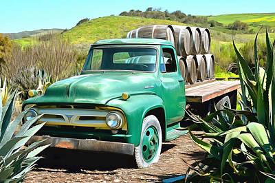 Photograph - Dierberg Star Lane Wine Truck by Floyd Snyder