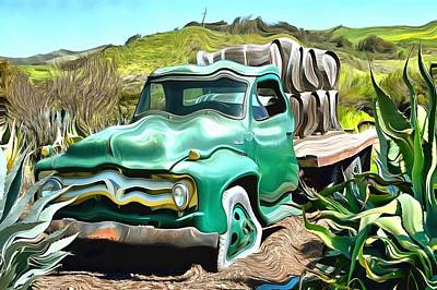 Photograph - Dierberg Star Lane Wine Truck Surreal by Floyd Snyder