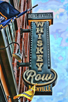 Photograph - Dierks Bentley's Whiskey Row - Memphis by Allen Beatty