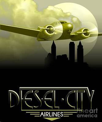 Painting - Diesel City Airlines by Roberto Prusso