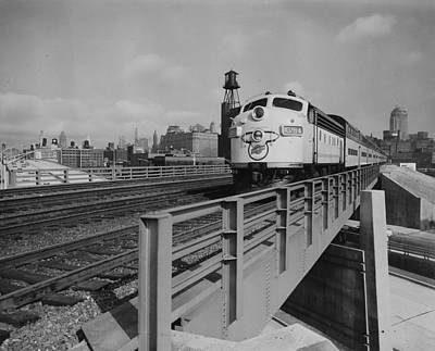 Photograph - Diesel Engine Pulls Through Chicago  - 1961 by Chicago and North Western Historical Society