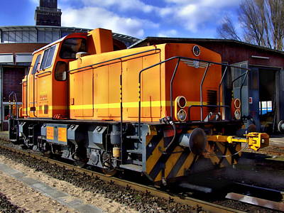 Photograph - Diesel Locomotive by Anthony Dezenzio