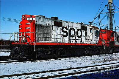 416 Digital Art - Diesel Locomotive Soo 416, Alco Rs27 by Wernher Krutein