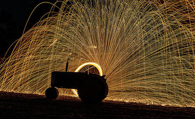 Photograph - Diesel Tractor Silhouette by Willard Sharp