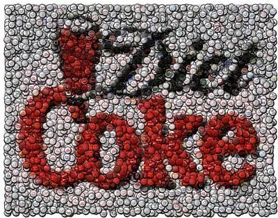 Coke Digital Art - Diet Coke Bottle Cap Mosaic by Paul Van Scott