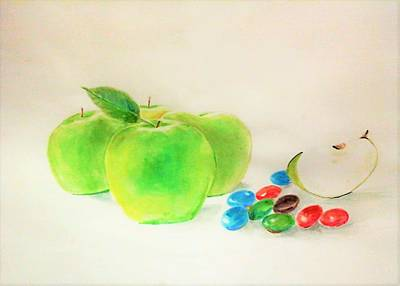 Painting - Diets by Khalid Saeed