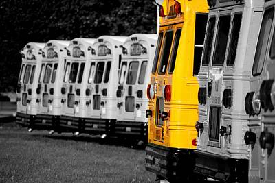 School Bus Photograph - Different by Emily Stauring
