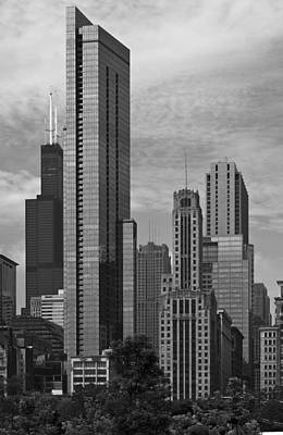 Chicago Photograph - Different Era Towers by Kevin Eatinger