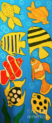 Painting - Different Fishes, Painting by Irina Afonskaya
