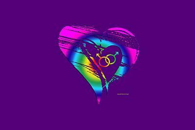 Digital Art - Different Loving 3 by Bill Posner