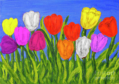 Painting - Different Tulips, Painting by Irina Afonskaya