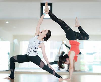 Photograph - Diffical Level Of Yoga Dance by Anek Suwannaphoom