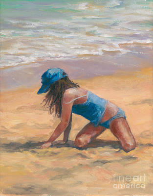 Youthful Painting - Dig Me Beach by Laurie Rodriguez