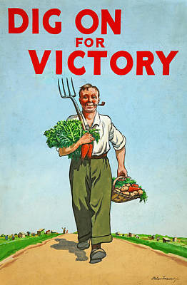 Dig On For Victory Art Print by English School