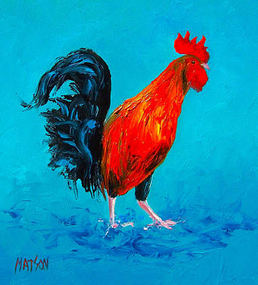 Farm Animal Painting - Digby The Rooster by Jan Matson