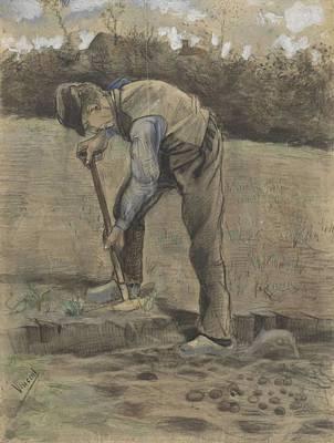 Painting - Digger Etten  October 1881 Vincent Van Gogh 1853  1890 by Artistic Panda
