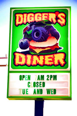 Digger's Diner Art Print by Lanjee Chee