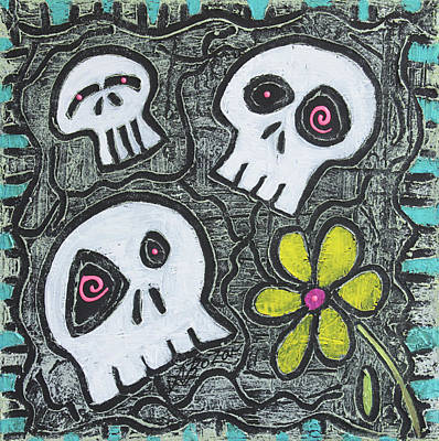 Collage Painting - Digging For Skulls by Laura Barbosa