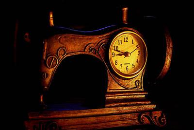 Clock Digital Art - Digital Antiquarian Passing Time by VRL Art