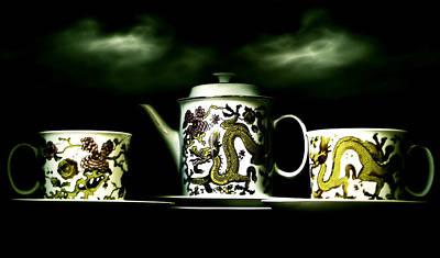 Coffee Mixed Media - Digital Antiquarian Porcelain by VRL Art