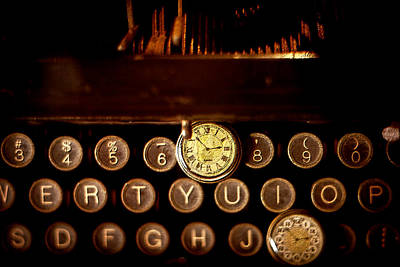 Typewriter Keys Mixed Media - Digital Antiquarian Typewriter by VRL Art