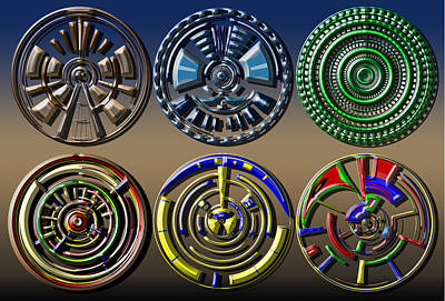 Digital Art - Digital Art Dials by David Yocum